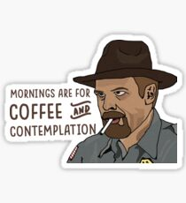 Coffee and Contemplation Sticker