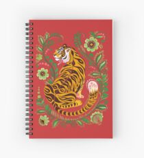 Tiger Folk Art Spiral Notebook