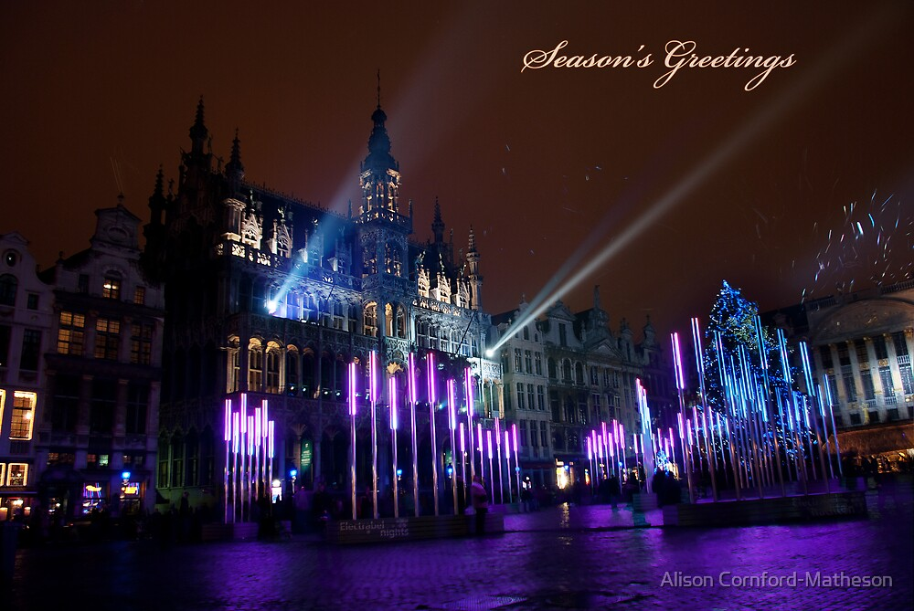 Christmas in Brussels Grand Place by Alison Cornford-Matheson
