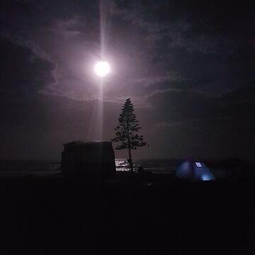 Camping Under Night Sky by spudbog