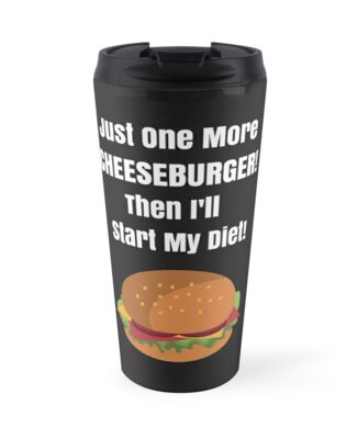 cheeseburger diet new years resolution diet coke funny gift saying by cheerfuldesigns