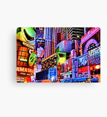 Times Square Commercial Fantasy Canvas Print