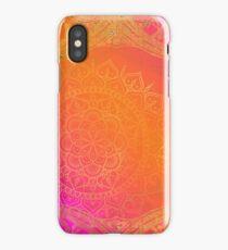 Fuchsia Pink Orange & Gold Indian Mandala Glam iPhone Case/Skin