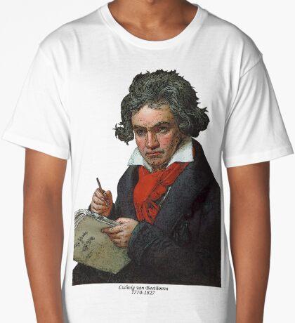 Ludwig van Beethoven Grunge Long T-Shirt