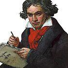 Ludwig van Beethoven Grunge by DesignsByDebQ
