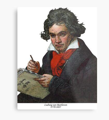 Ludwig van Beethoven Grunge Metal Print
