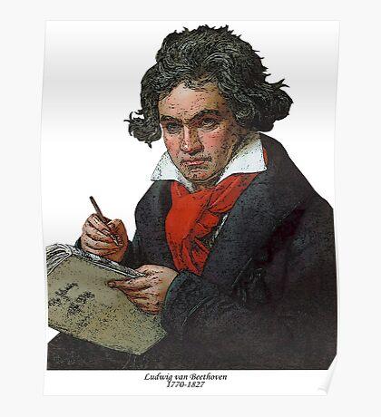 Ludwig van Beethoven Grunge Poster