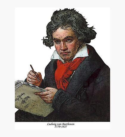 Ludwig van Beethoven Grunge Photographic Print