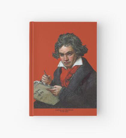 Ludwig van Beethoven Grunge Hardcover Journal