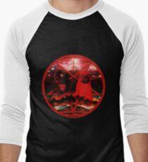Camiseta ¾ bicolor para hombre pugtagram rojo