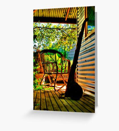 """On The Verandah"" Greeting Card"
