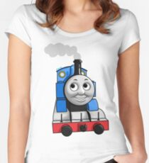 Thomas puffing along Women's Fitted Scoop T-Shirt
