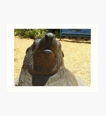 Bull Seal Statue Art Print