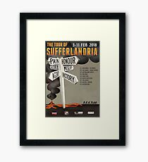 Tour of Sufferlandria 2018 Official Poster Framed Print