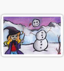 Winter Witch Sticker