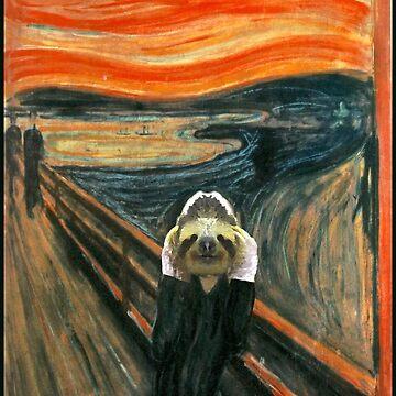 The Sloth Scream by Edvard Munch by TARDISRepairman