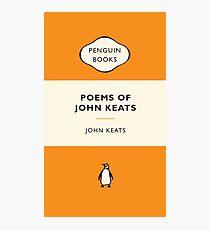 Penguin Book Poems Of John Keats Photographic Print