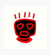 LOVE MAN (INVERTED RED FRAMED PRINT) Art Print
