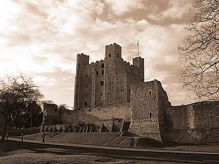 Sepia Tone - Rochester Castle by groovygreen