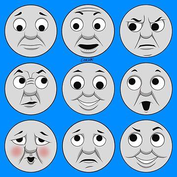 The Many Faces of Thomas (full faces) by corzamoon