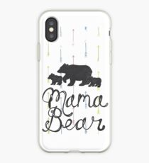 Mama Bear with Cubs iPhone Case