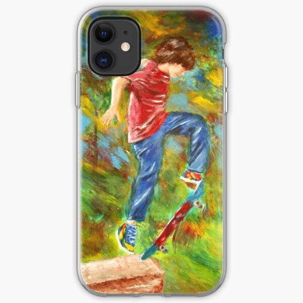 Skateboarder iPhone Soft Case