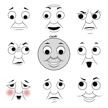 The Many Faces of Thomas (lines) by corzamoon