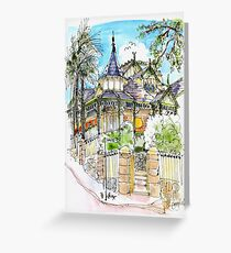 House with Turrets. Manly Australia Greeting Card