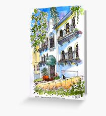 Hollywood Mission Style House. Manly Australia Greeting Card