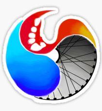 Watercolor Triathlon Yin Yang Sticker