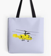 Yellow Helicopter Tote Bag