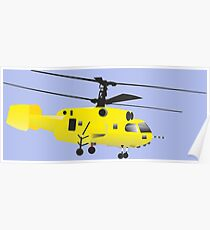 Yellow Helicopter Poster
