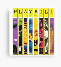 Custom Broadway Playbill Framed Art Collage Canvas Print