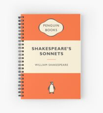Penguin Book Shakespeare's Sonnets Spiral Notebook