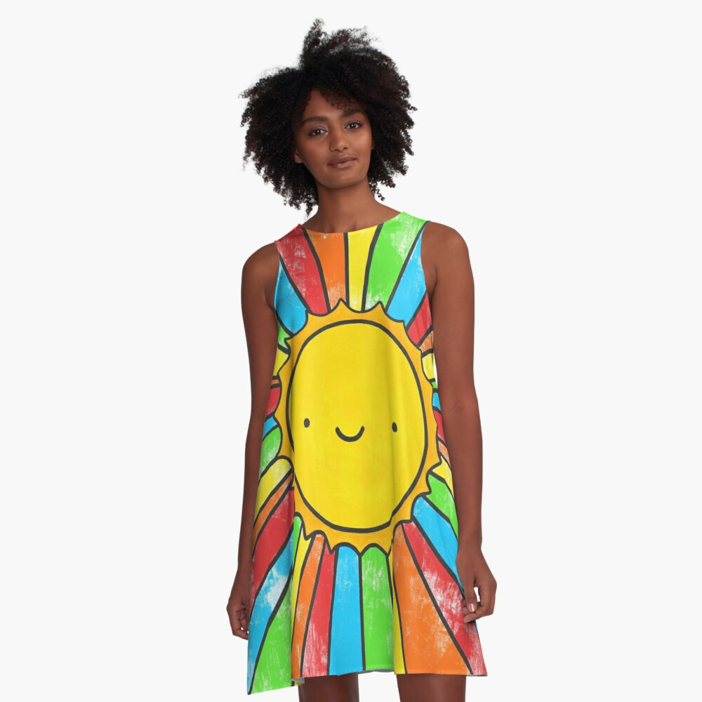 Radiate Positivity A-Line Dress