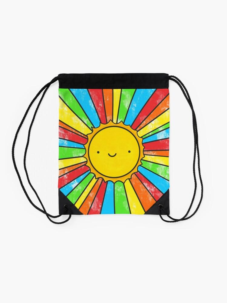 Alternate view of Radiate Positivity Drawstring Bag
