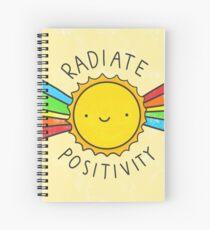 Cuaderno de espiral Irradiar positividad