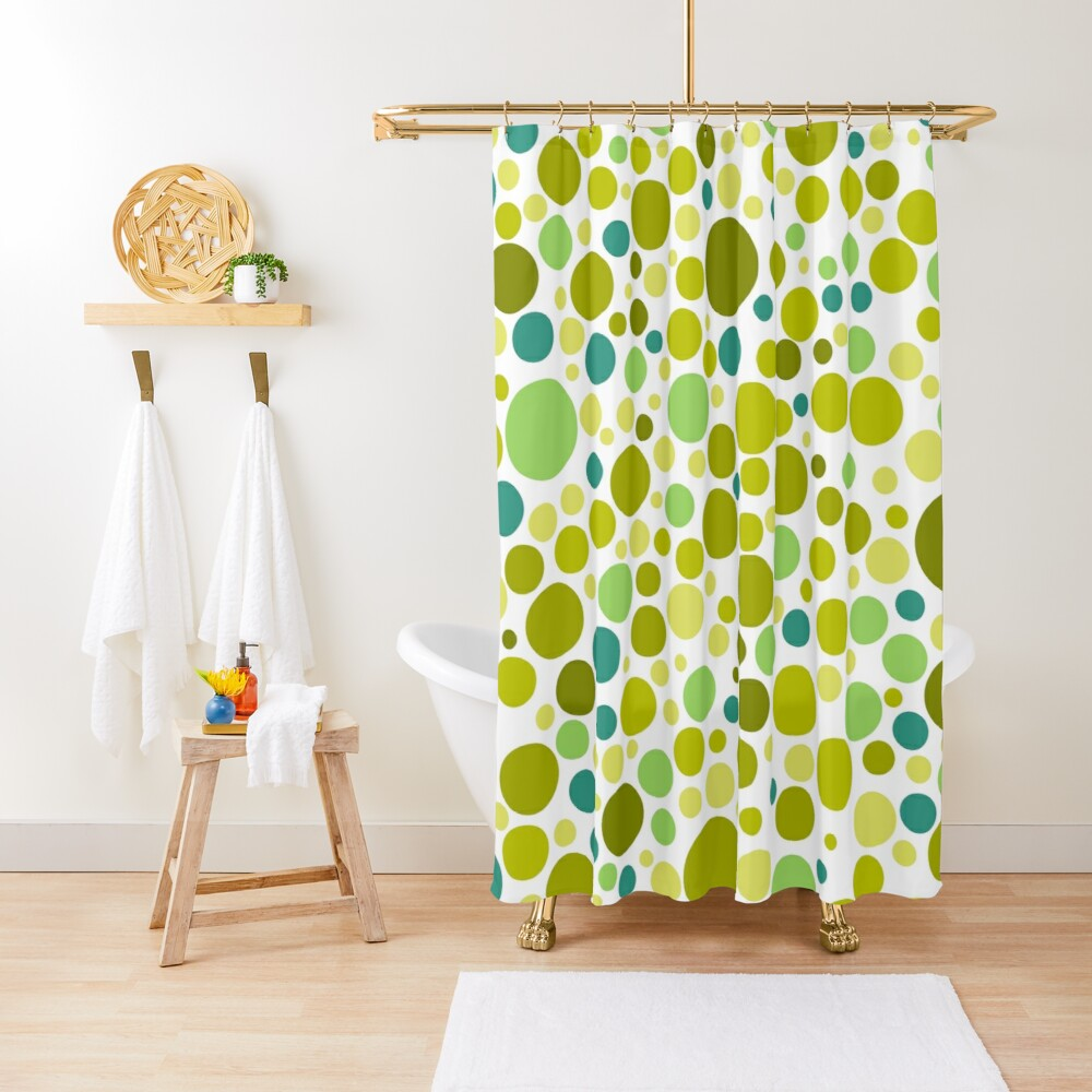Colorful  Bubble Party 2 Shower Curtain