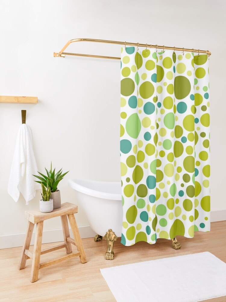 Alternate view of Colorful  Bubble Party 2 Shower Curtain