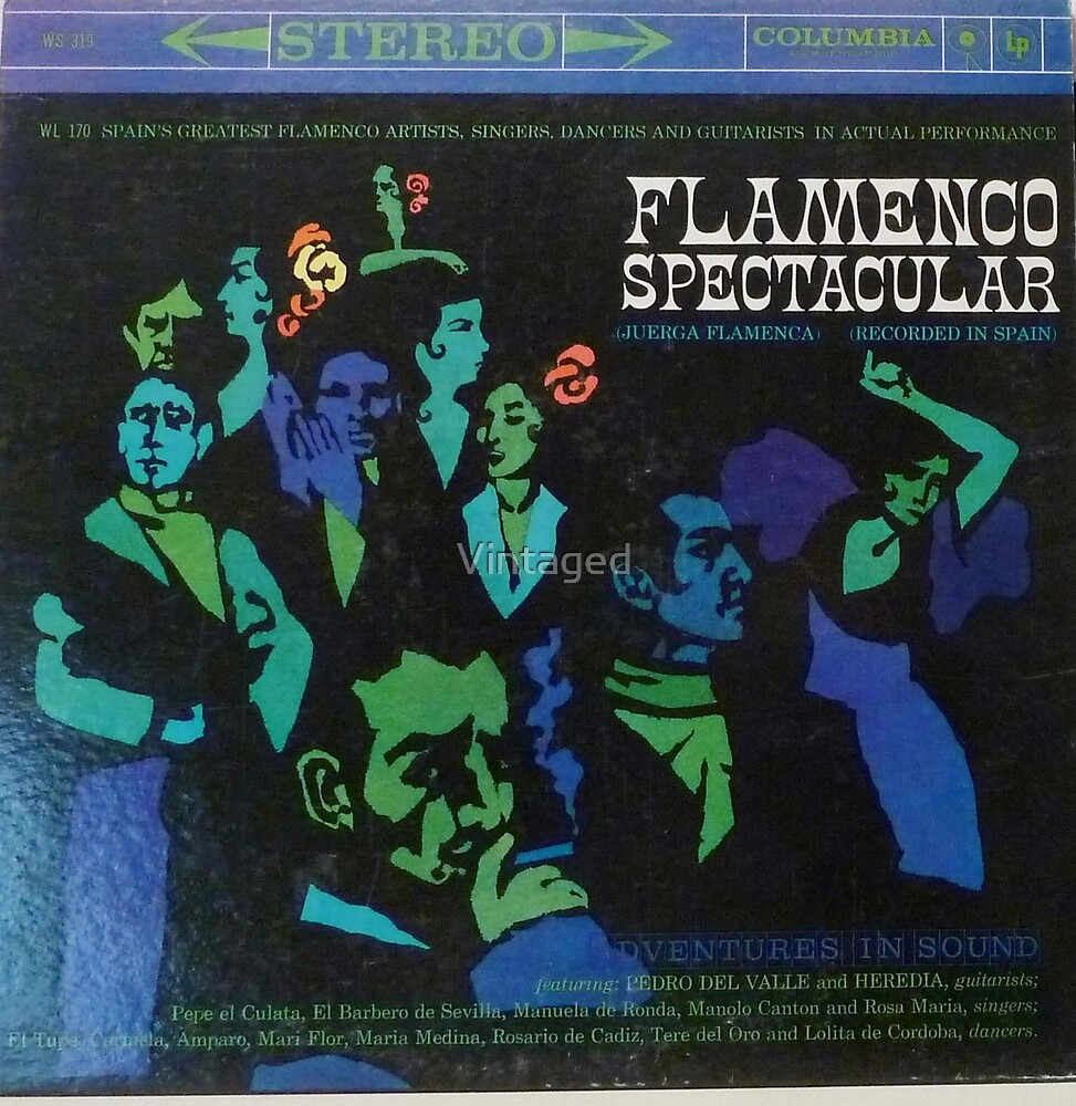Flamenco Spectacular, cool art cover Classical, guitar, Latin by Vintaged