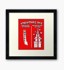 Valentines day, Hearts, Gifts, Love T-shirt  My girlfriend and My Boyfriend, Funny, Comic. Framed Print