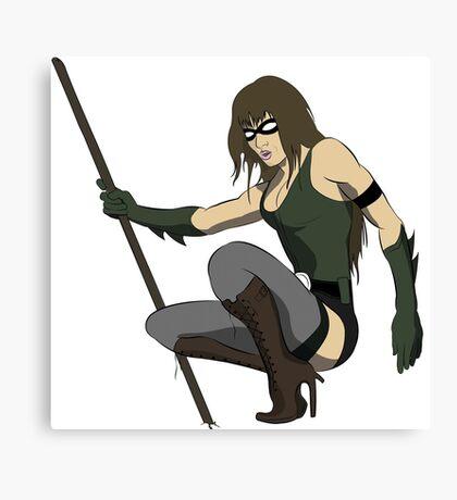 Super Hero Woman Canvas Print