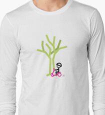 Scootery Boy series - scootin' through autumn t-shirt Long Sleeve T-Shirt