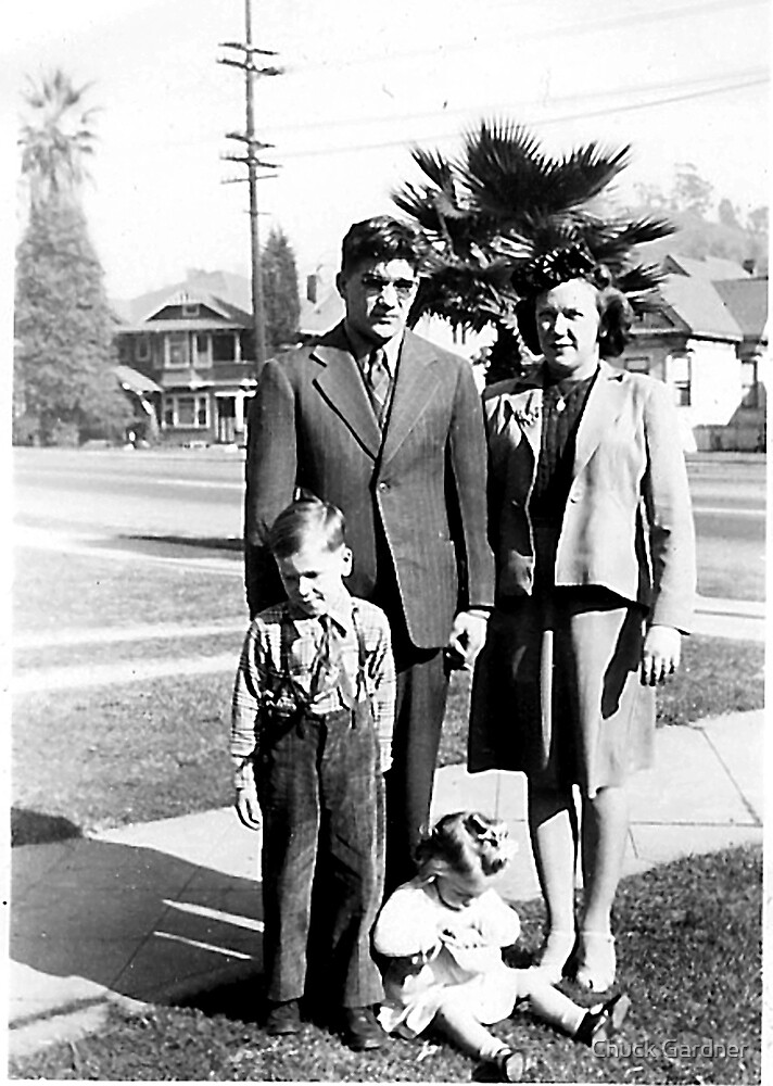 My Mothers in her Sundays Best After Church in East LA Calif., 1944 by Chuck Gardner