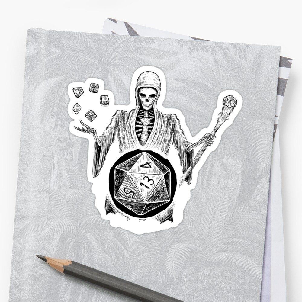 D20 Reaper - DM - Game Master D20 Dice Dungeons & Dragons  by Nocturnal Culture