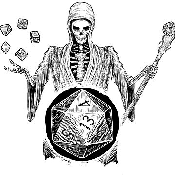 D20 Reaper - DM - Game Master D20 Dice Dungeons & Dragons  by Nocturnalcultur