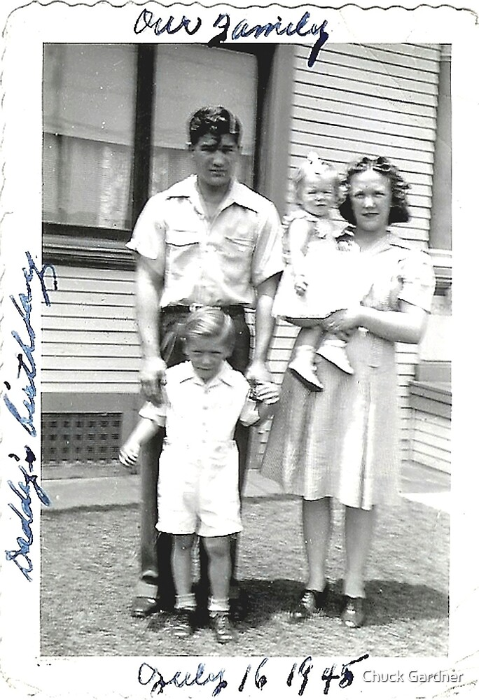 My Fathers Birthday in East LA Calif., 1945 by Chuck Gardner