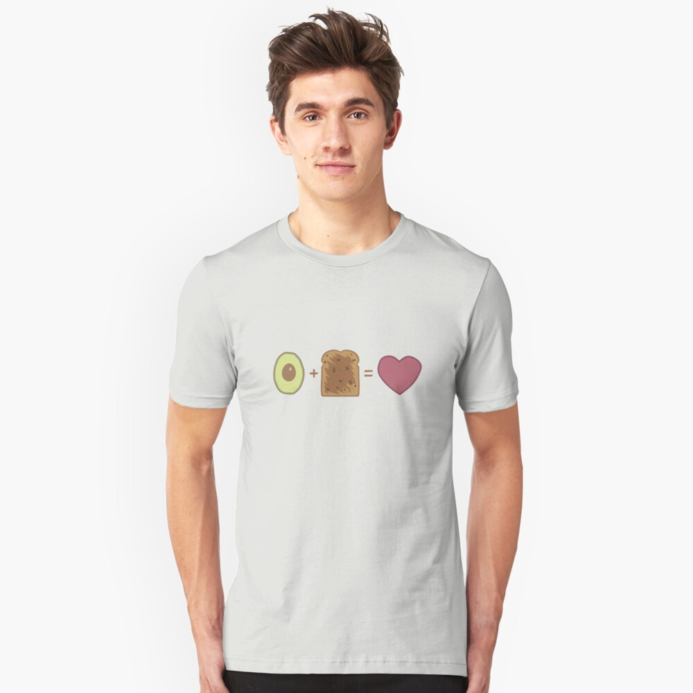 Avocado Toast Love Unisex T-Shirt Front