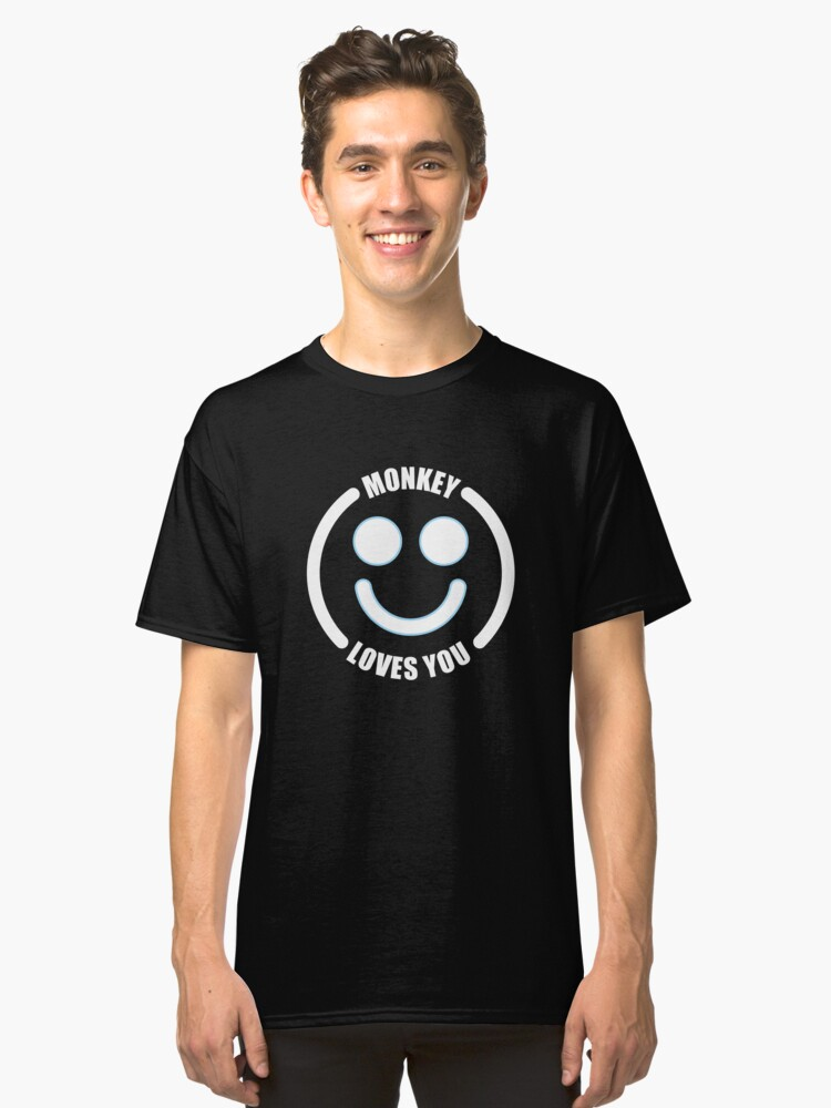 Black Mirror Monkey Loves you Classic T-Shirt Front