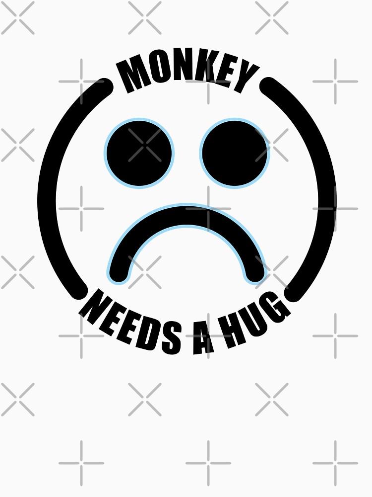 Monkey Needs a Hug Black Mirror by lezcopines